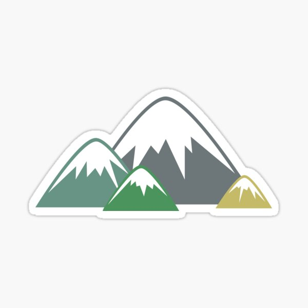 Candy Mountains Sticker