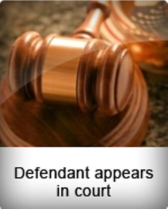 Defendant appears in court by ajdellomo