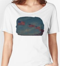 Washington Monument flags edit Women's Relaxed Fit T-Shirt