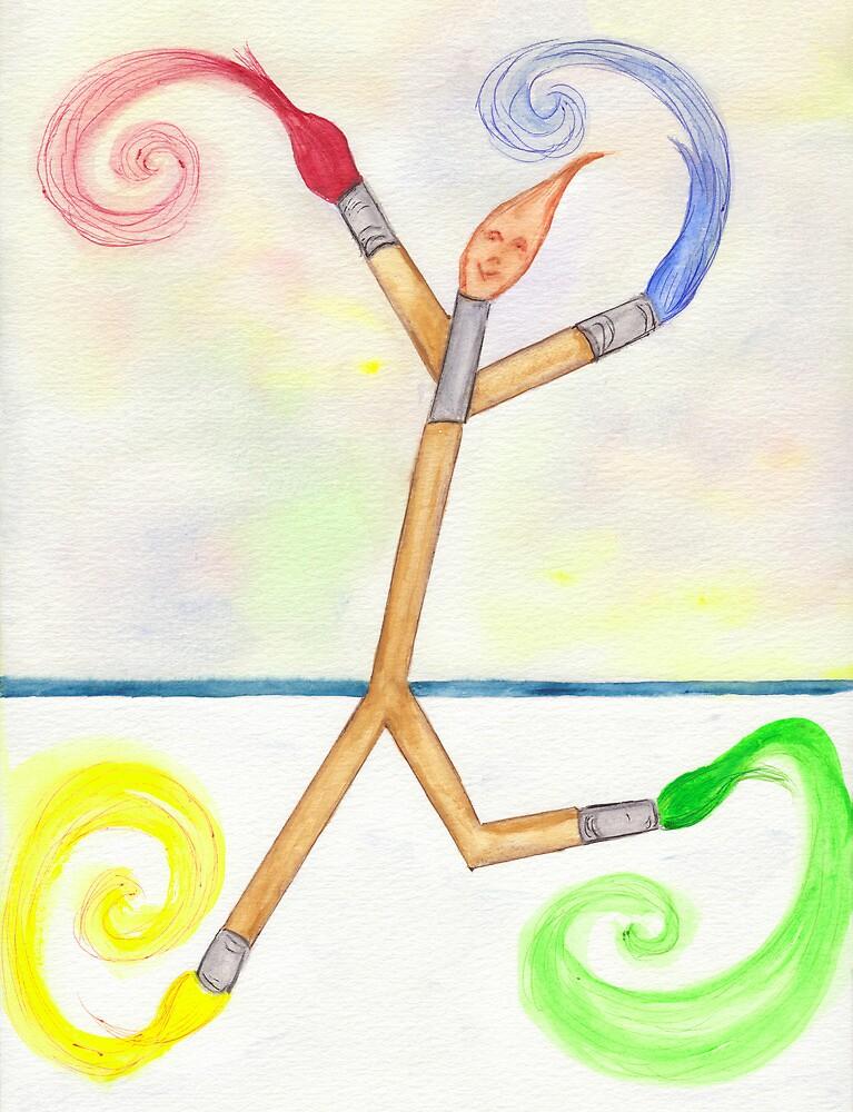 I Am a Paintbrush by skatingart