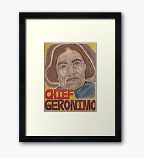 Chief Geronimo Framed Print