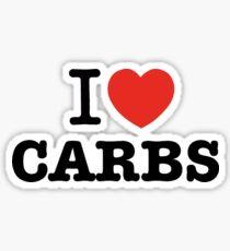 I Love Carbs Sticker