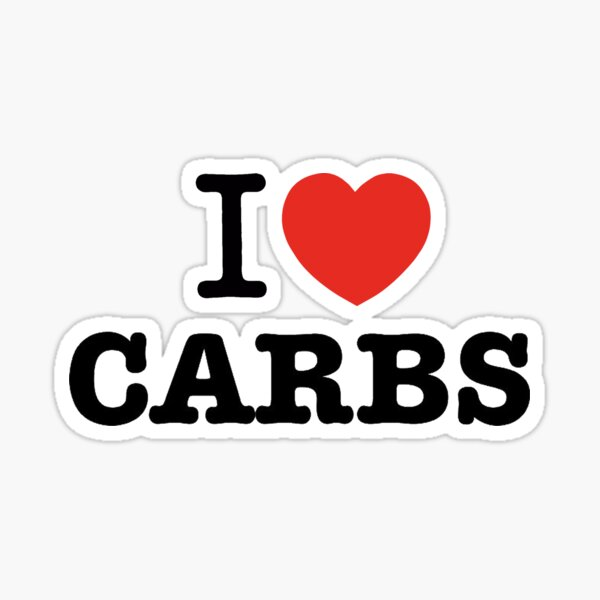 I Love Carbs Sticker