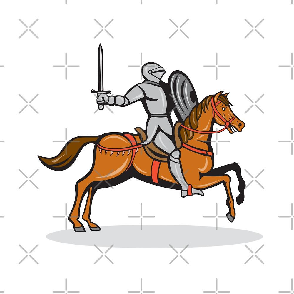 Knight Riding Horse Cartoon by patrimonio