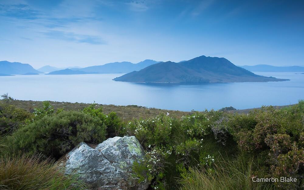 Lake Pedder - Blue Morning - Tasmania by Cameron Blake