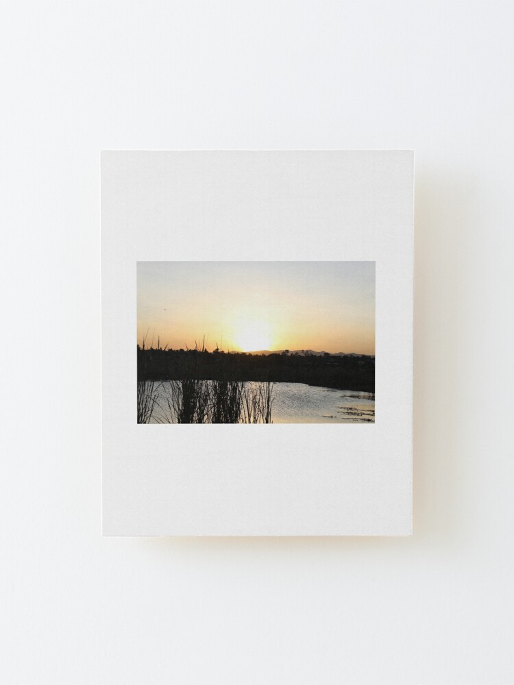 Alternate view of The Sunset Lake Collection Mounted Print