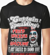Captain Spaulding Fried Chicken & Gasoline Graphic T-Shirt