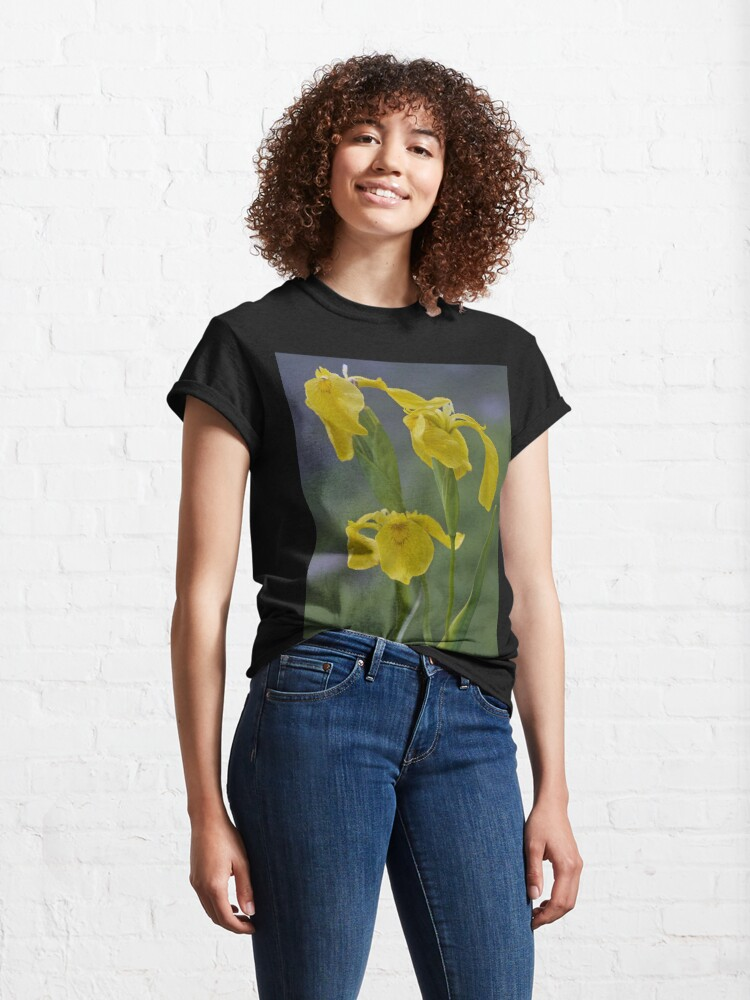 Alternate view of Yellow Flag Iris - Donegal Classic T-Shirt