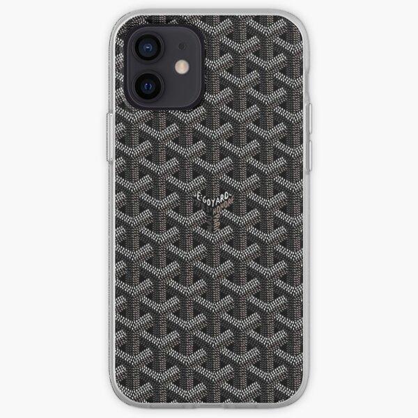 Black goyard iPhone Soft Case