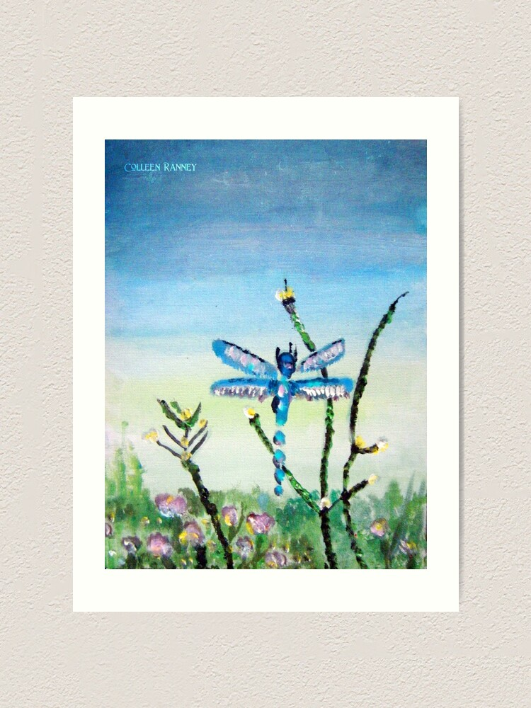Alternate view of Dragon Fly by Colleen Ranney Art Print