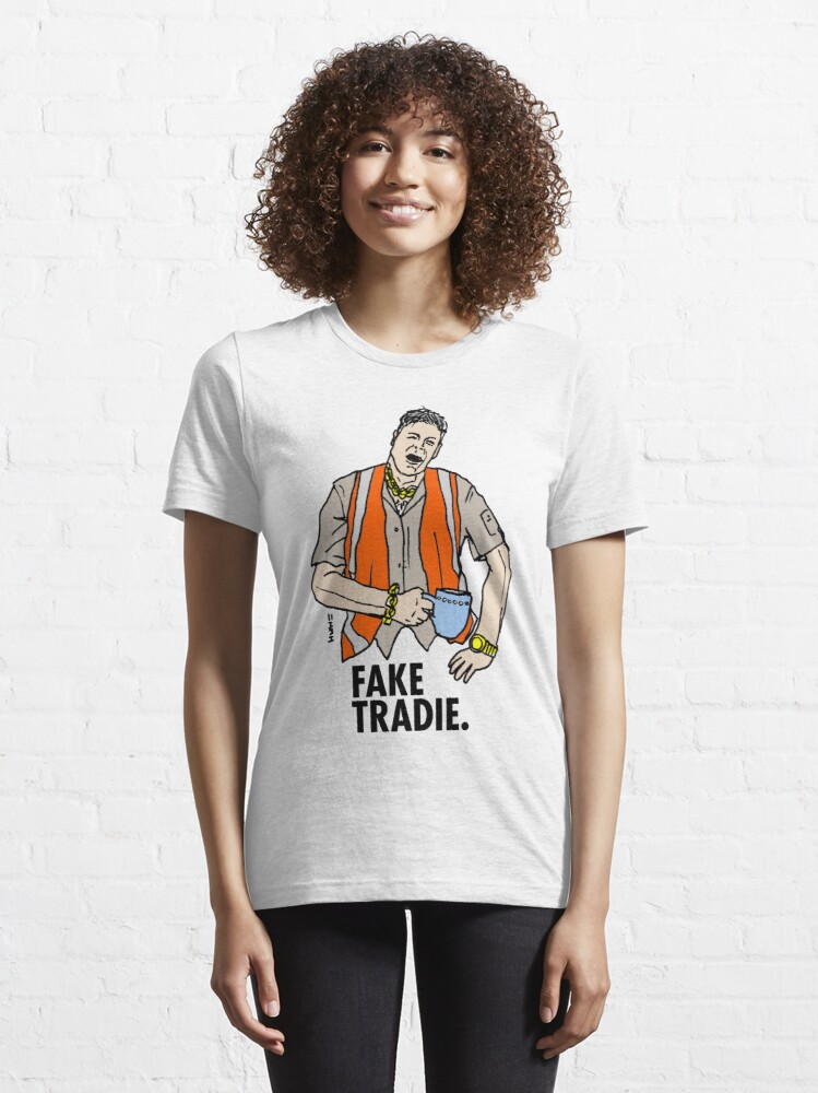 Alternate view of Fake Tradie Liberal Party faketradie Essential T-Shirt