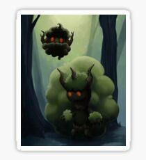 Fluffy Forest Ghosts Sticker