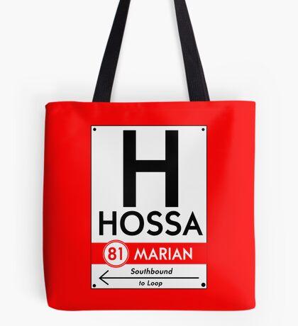 Retro CTA sign Hossa Tote Bag