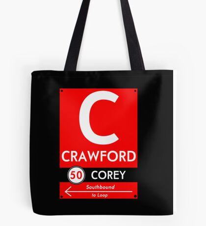 Retro CTA sign Crawford Tote Bag