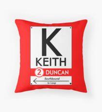 Retro CTA sign Keith Throw Pillow