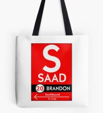 Retro CTA sign Saad Tote Bag