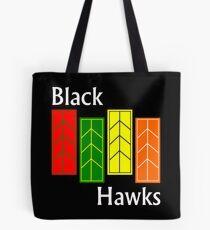 Black Hawks (reverse colors) Tote Bag