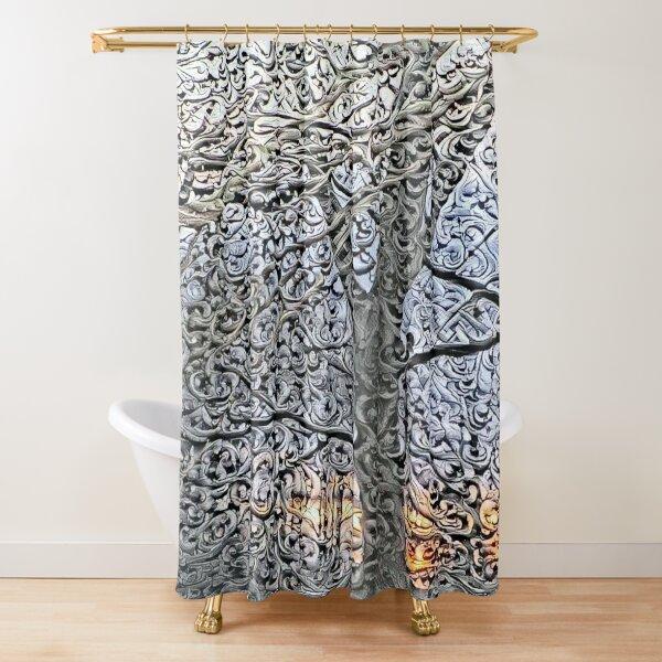 040821dd5 sunset Shower Curtain