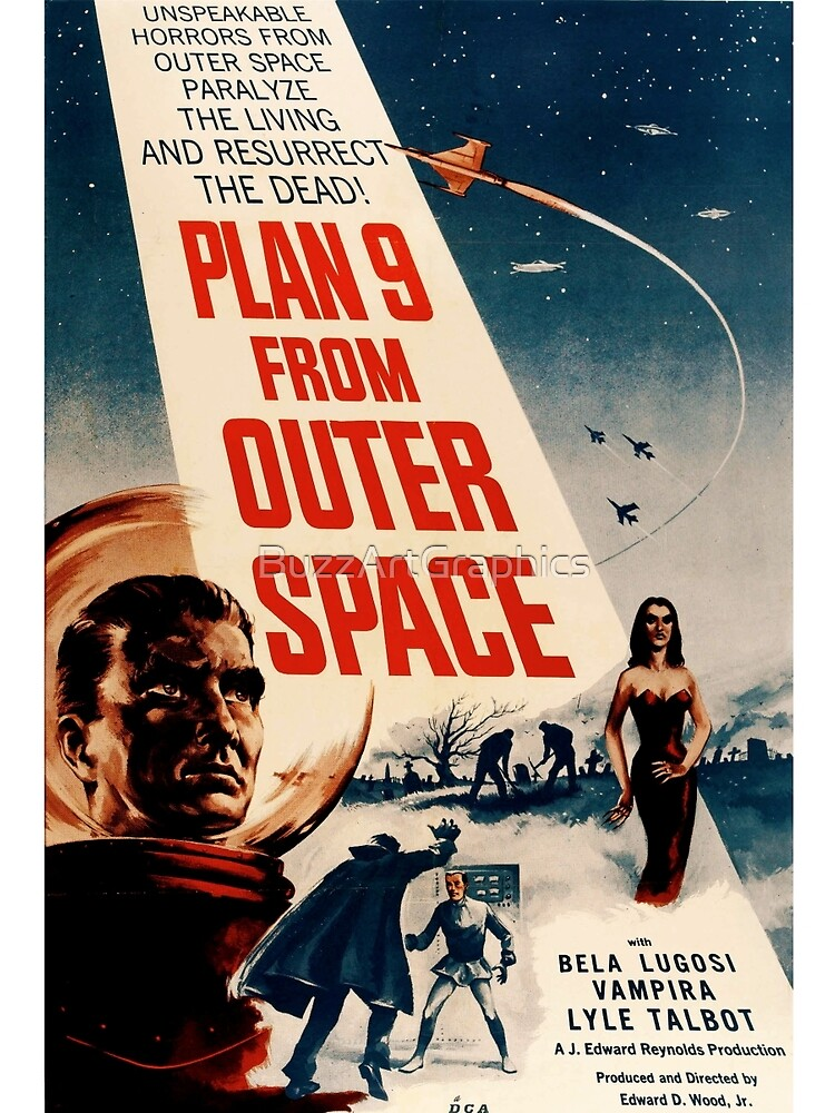 Plan 9 From Outer Space Retro Movie Pop Culture Art by BuzzArtGraphics
