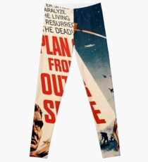 Plan 9 From Outer Space Retro Movie Pop Culture Art Leggings
