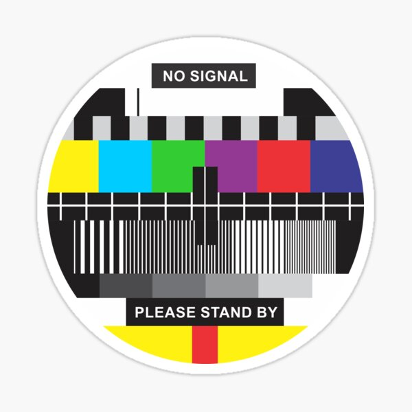 TV No Signal Sticker