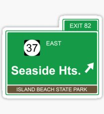 Seaside Heights Exit New Jersey Sticker
