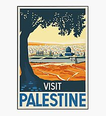 Visit Palestine Vintage Travel Poster Photographic Print