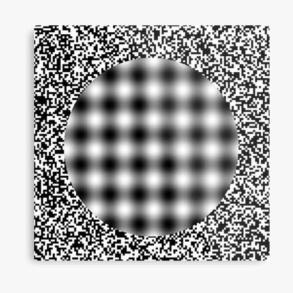 Optical Illusion in Black and White Metal Print