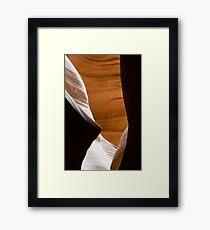 Desert Sandstone Abstract Framed Print
