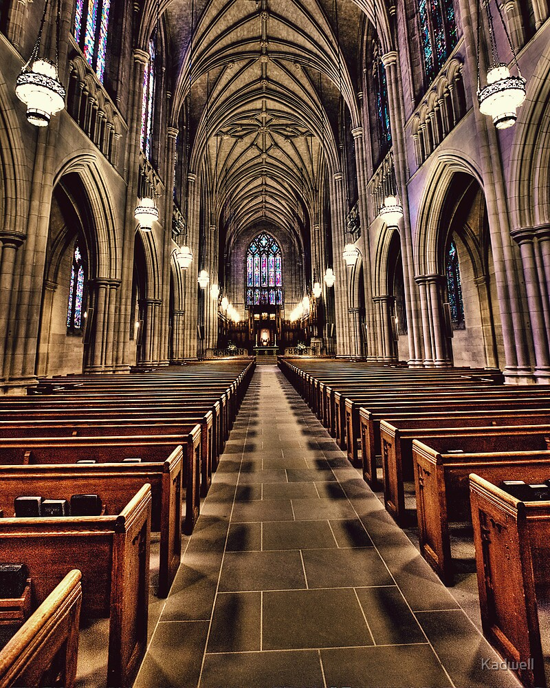 The Aisle of Duke Chapel by Kadwell