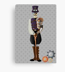 Steampunk Skeleton Canvas Print