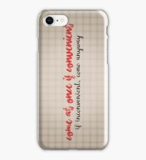 Come at once if convenient iPhone Case/Skin