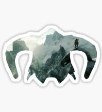 Elder Scrolls - Helmet - Mountains Sticker