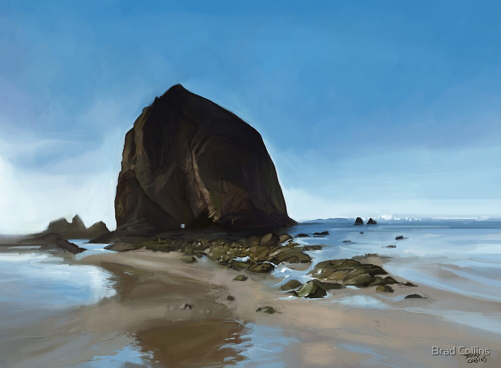 Haystack Rock - Oregon by Brad Collins