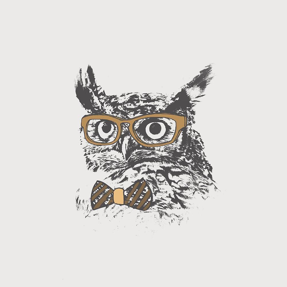 Hipster Owl by Zeke Tucker