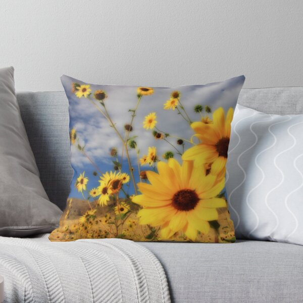 Sunflowers Tote Bag and Throw Pillow Throw Pillow