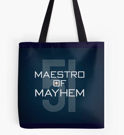 Maestro of Mayhem Tote Bag