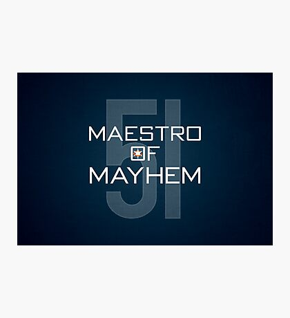 Maestro of Mayhem Photographic Print