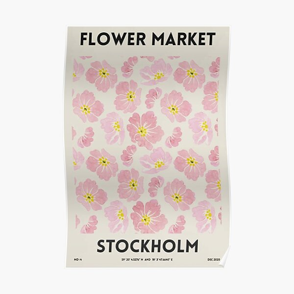 Marché aux fleurs - Stockholm Poster