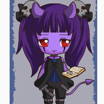 gothic girl chibi by MagicElisa