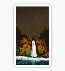 Havasu Falls at Night Sticker