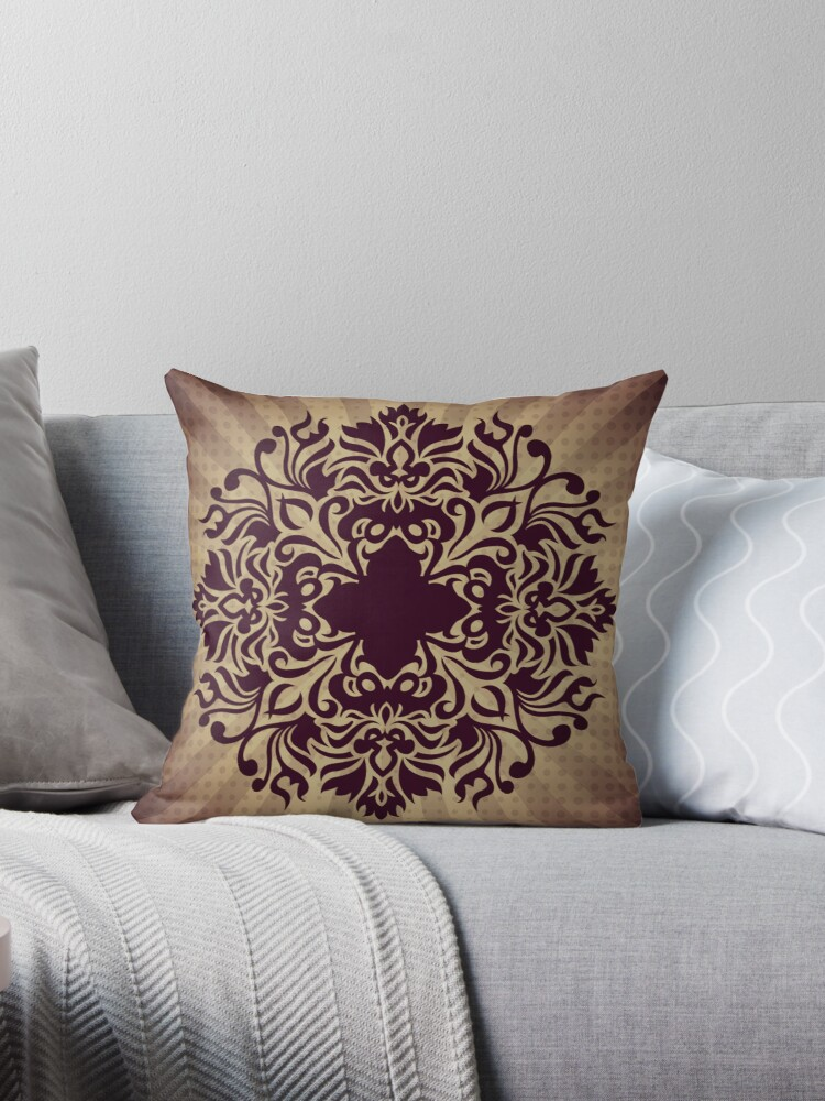 pattern throw pillow throw pillows by fantasytripp