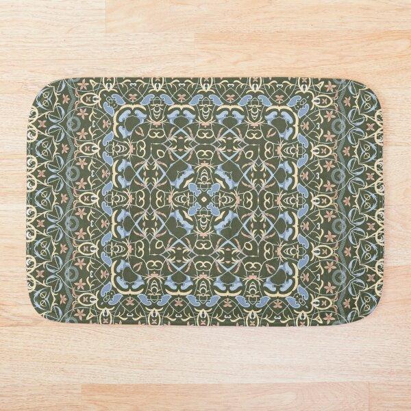 Arabic ornate square pattern Bath Mat