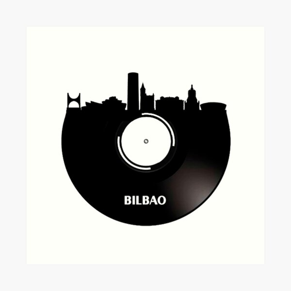 Vinilo Bilbao Lámina artística