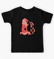 Der rote MERLION mit Wasser Kinder T-Shirt