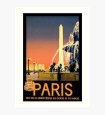 Paris Vintage Travel Poster Art Print