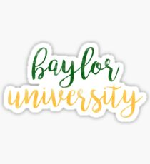 Baylor University/BU Watercolor Sticker