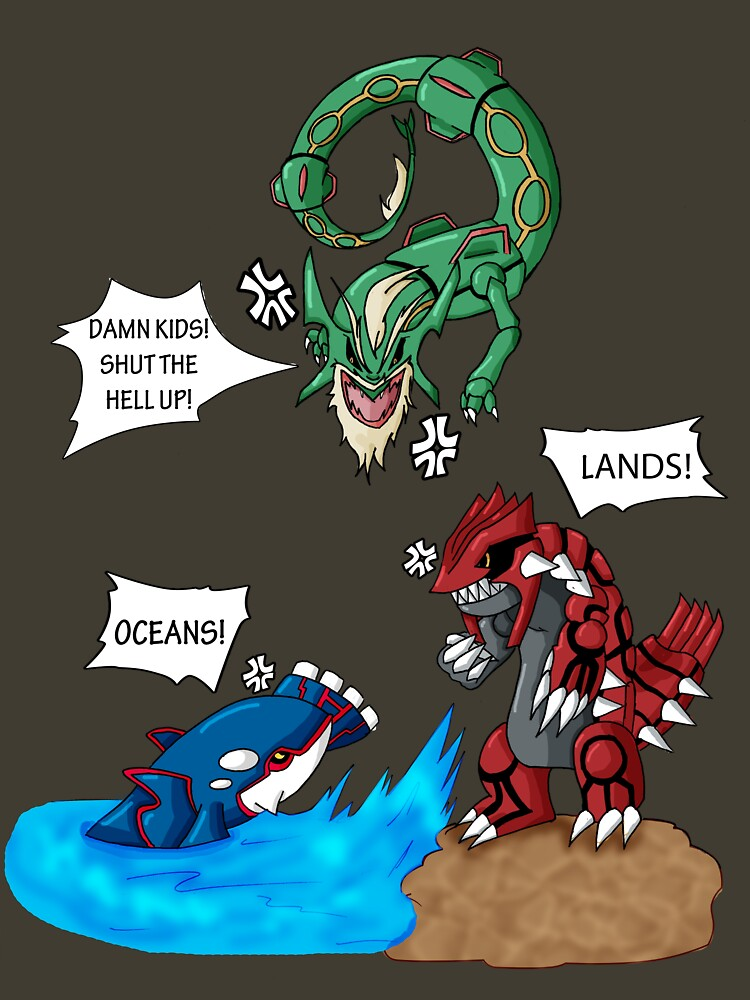 Old man Rayquaza losing it by MechToast