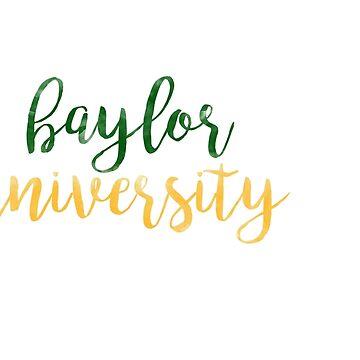Universidad de Baylor / BU Watercolor de laurajoy16