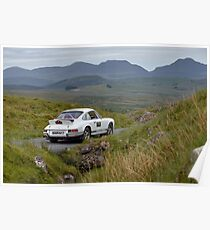 The Three Castles Welsh Trial 2014 - Porsche 911 Poster